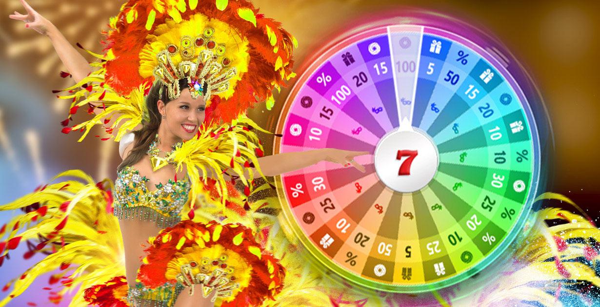 Gira la ruleta del carnaval con Casino777